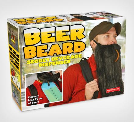 This Ingenious Fake Beard Lets You Hide Beer Inside Of It For Drinking On The Go
