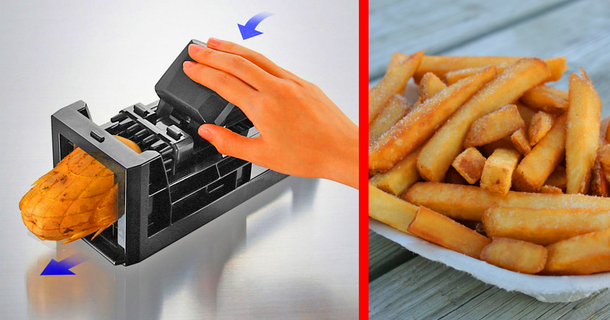This Ingenious Kitchen Tool Lets You Cut Fresh French Fries In Mere Seconds
