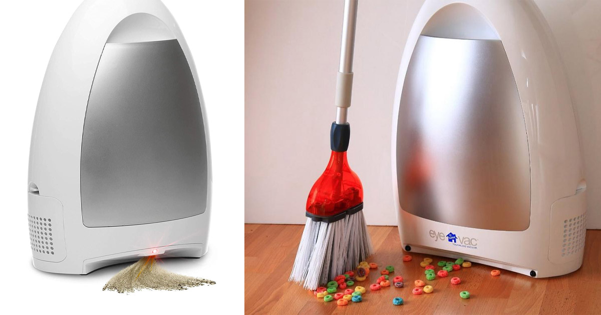 This Ingenious Touch-less Vacuum Eliminates The Need For a Dustpan While Sweeping