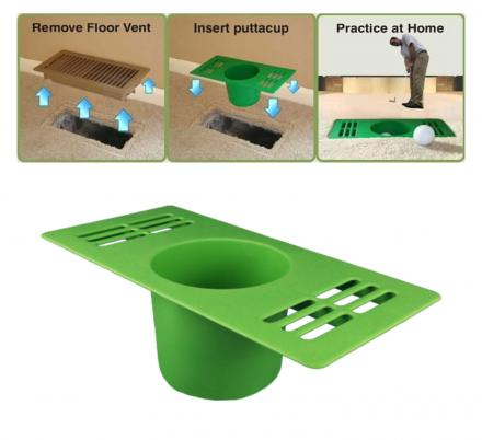 This Ingenious Vent Cover Replacement Turns Your Home Vent Into a Practice Putting Cup