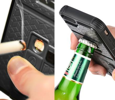 This iPhone 6s Plus Case Has a Bottle Opener and a Lighter On It