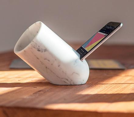 This iPhone Music Amplifier Is Made From Marble