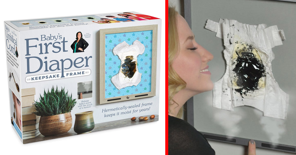 This Keepsake Lets You Seal and Frame Your Newborns First Poopy Diaper