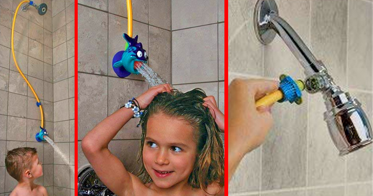 This Kids Shower Head Brings It Lower and Makes The Water Come Out Softer