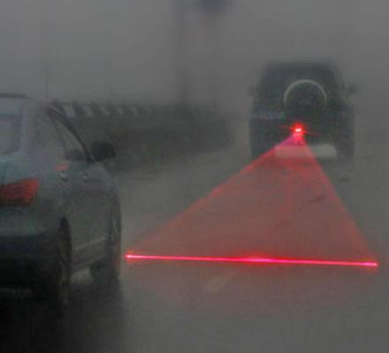 This Laser Attaches To The Back Of Your Car To Prevent Collisions During Heavy Fog