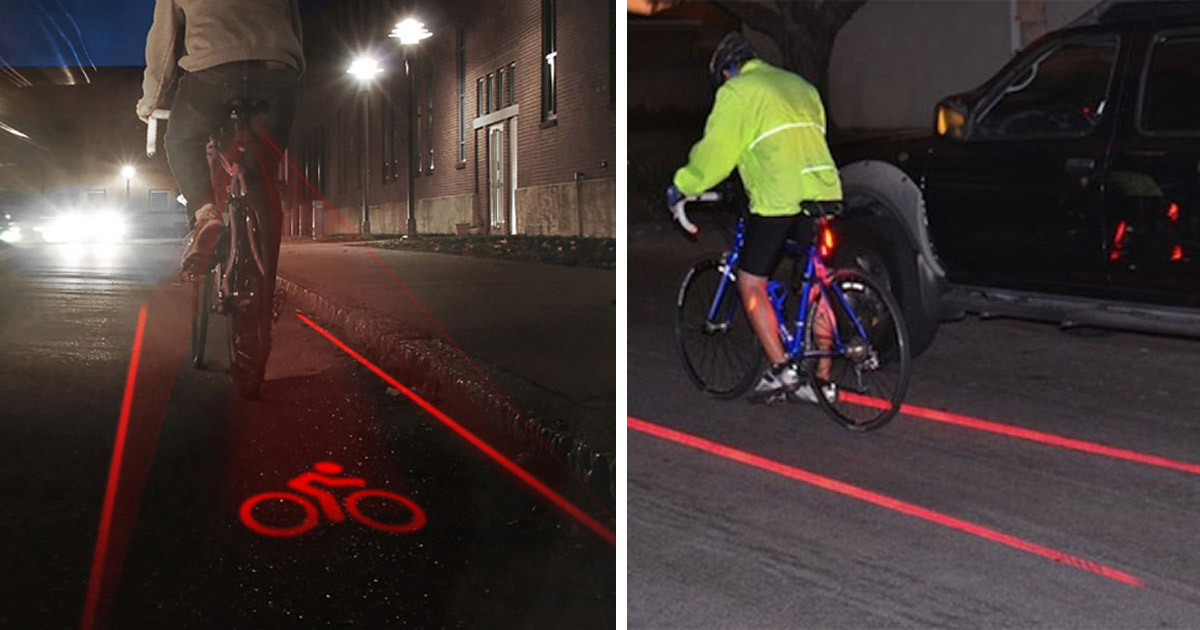 This Laser Bike Lane Creates Your Own Bicycle Lane While Your Ride