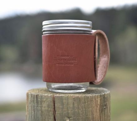 This Leather Sleeve Turns Your Mason Jar Into a Mug