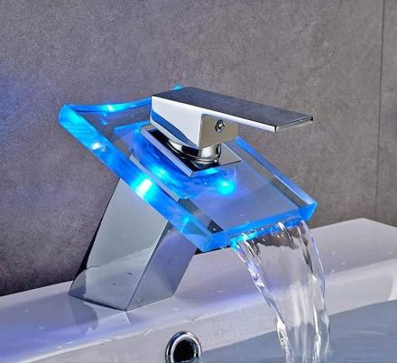 This LED Bath Faucet Shows You If The Water is Hot, Cold, or Lukewarm