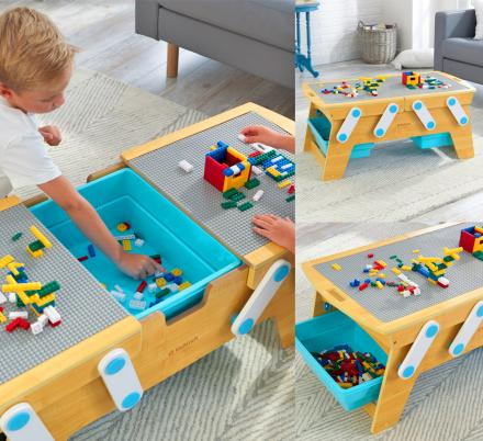 This Lego Compatible Play N Store Table Is Something Every Kid Needs In Their Life