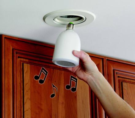 This Light Bulb Has a Speaker That Plays Music When It