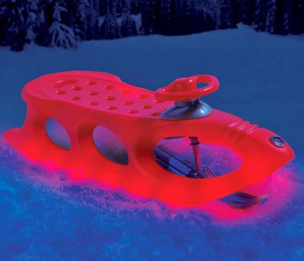 This Light-Up Alpine Sled Makes For Great Night-time sledding