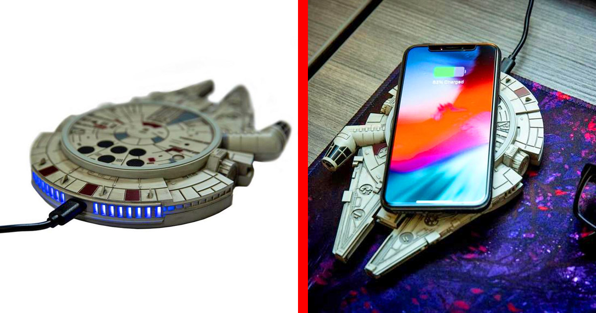 This Millennium Falcon Wireless Charger Will Top-Off Your Phone In Light-Speed