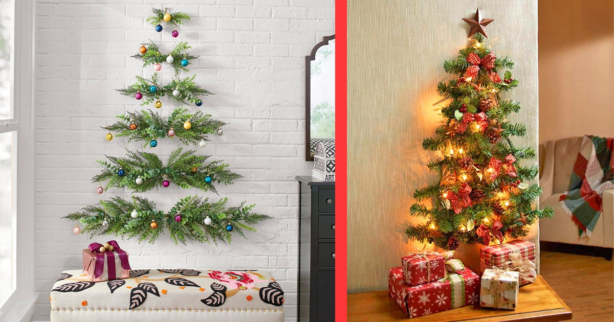 This Minimal Wall-Mounted Christmas Tree Will Save Space In Smaller Homes