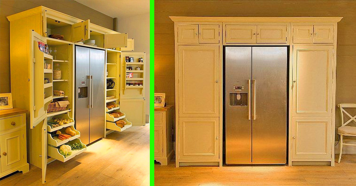 This Neptune Wrap-Around Refrigerator Pantry Is The Ultimate Kitchen Storage Solution