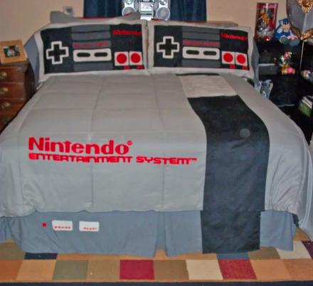 This Nintendo Bedding Set Makes Your Bed Look Like a Giant NES Game Console