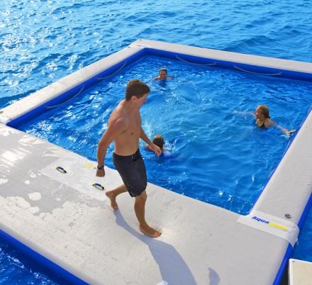 These Inflatable Ocean Pools Give You A Closed-Off Swimming Area In a Lake Or Ocean