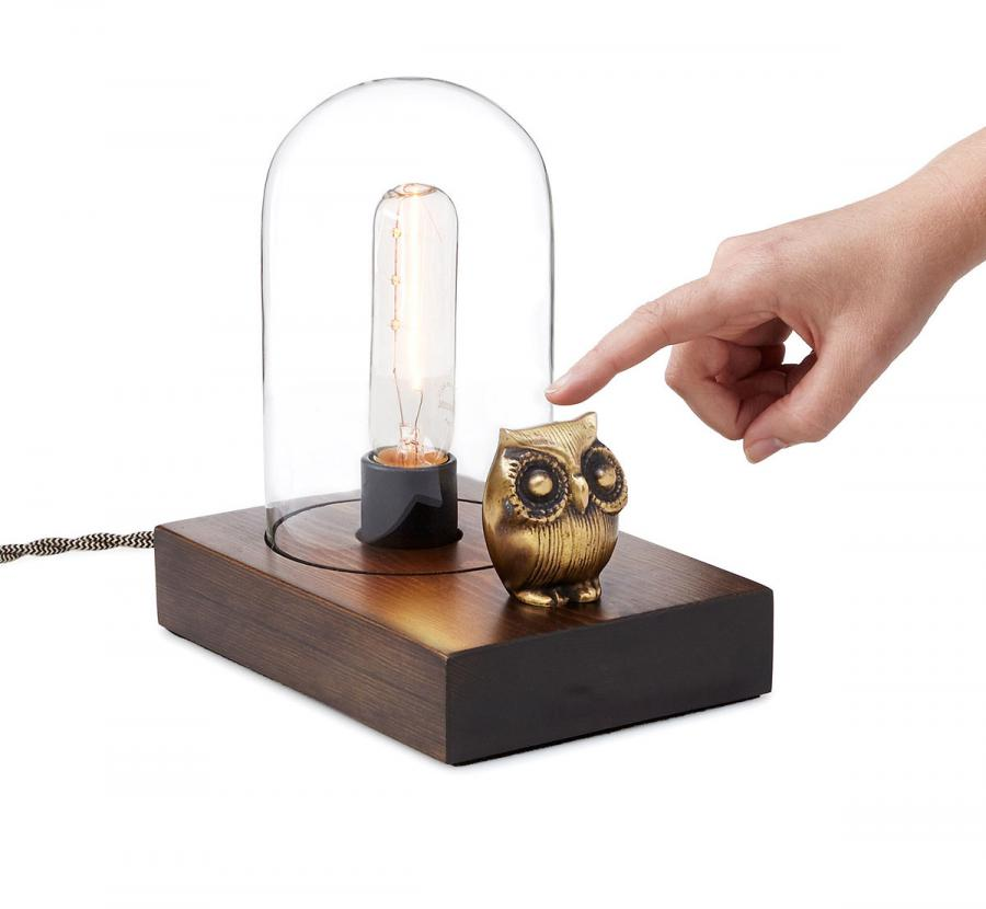 this owl lamp lets you touch the owl to turn it on off. Black Bedroom Furniture Sets. Home Design Ideas