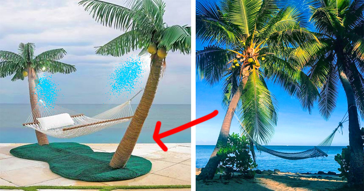 This Palm Tree Hammock Stand With Misters Lets You Create Paradise Right In Your Backyard