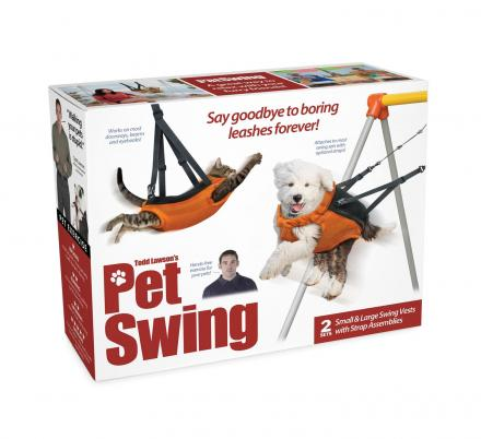 This Pet Swing Offers Hands-Free Pet Exercise Without Having To Step Outside