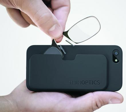 ThinOPTICS: Phone Case Holds Super-Thin Portable Reading Glasses