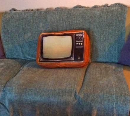 This Pillow Looks Like an Old Retro TV Set