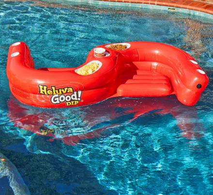 This Double Seated Pool Float Can Hold Your Drink, Snacks, And Bestie