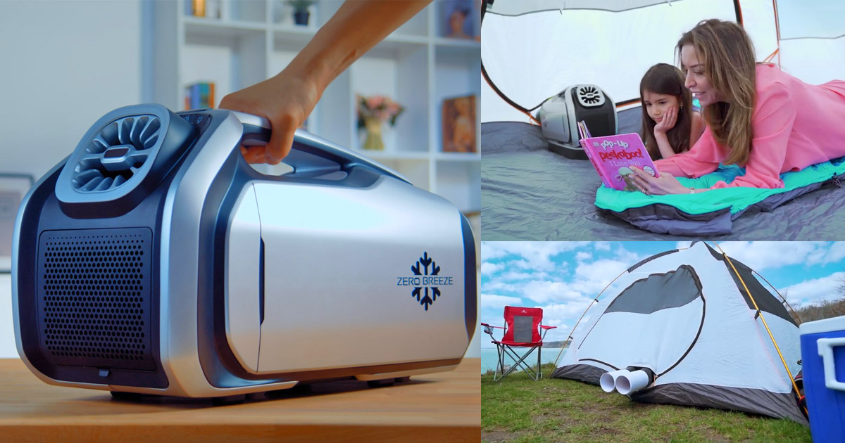 This Portable Battery Powered Air-Conditioner Is Perfect For Camping or Working Outdoors