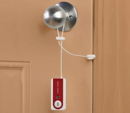 & This Portable Door Alarm Sounds Off If Your Door Is Opened