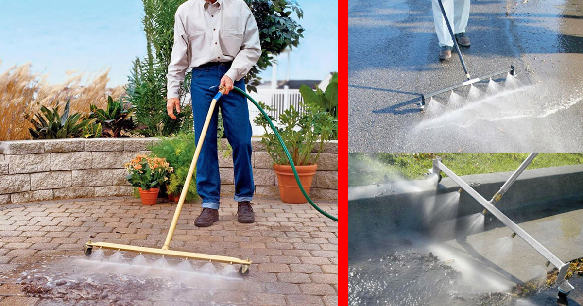 This Power Washing Broom Is a Genius Way To Clean Your Patio Or Garage