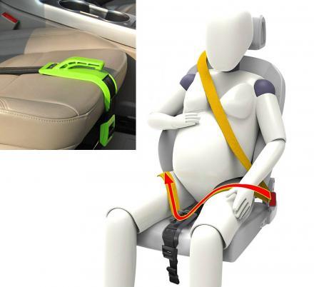 Este cinto de segurança para carro na gravidez protege seu feto em um acidente de carro