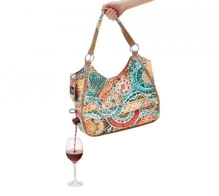 This Wine Dispensing Tote Secretly Holds a Bag Of Boxed Wine For Drinking On The Go