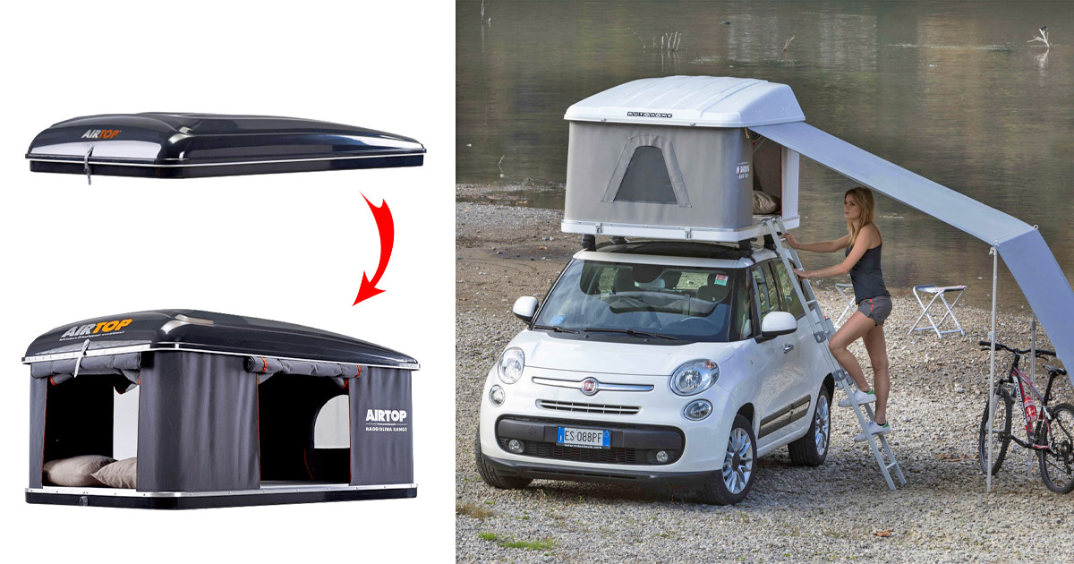 This Rooftop Expanding Tent Lets You Camp Out Anywhere