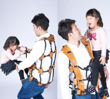 This Rope Suit Turns Dad Into A Jungle Gym