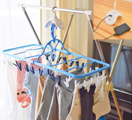 This Rotating Clothes Hanger Dries Your Clothing Extra Fast
