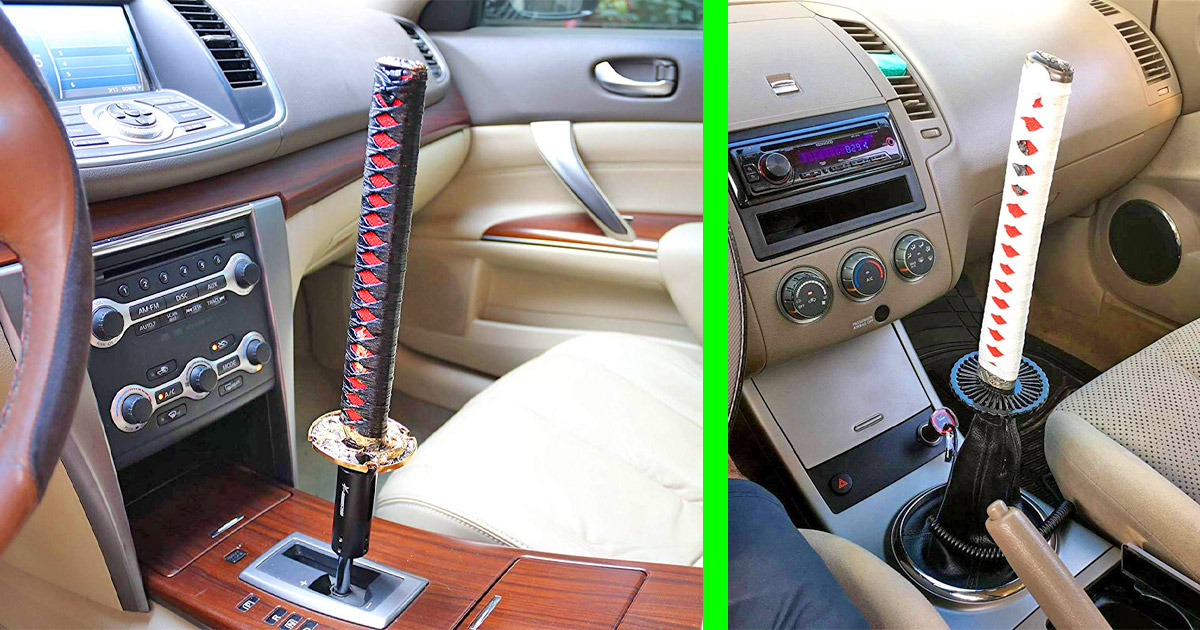 This Samurai Sword Gear Stick Shifter Is The Only Proper Way For a Ninja To Drive