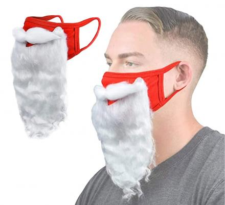 This Santa Beard Face Mask Is The Only Face Covering You Need For December