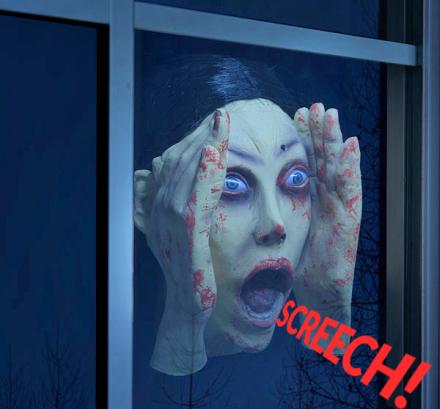 This Scary Peeper Prank Toy Screams When It Senses Someone Through The Window