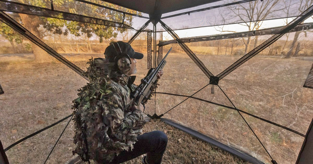 This See Through Hunting Blind Is Like a Two-Way Mirror In Tent Form