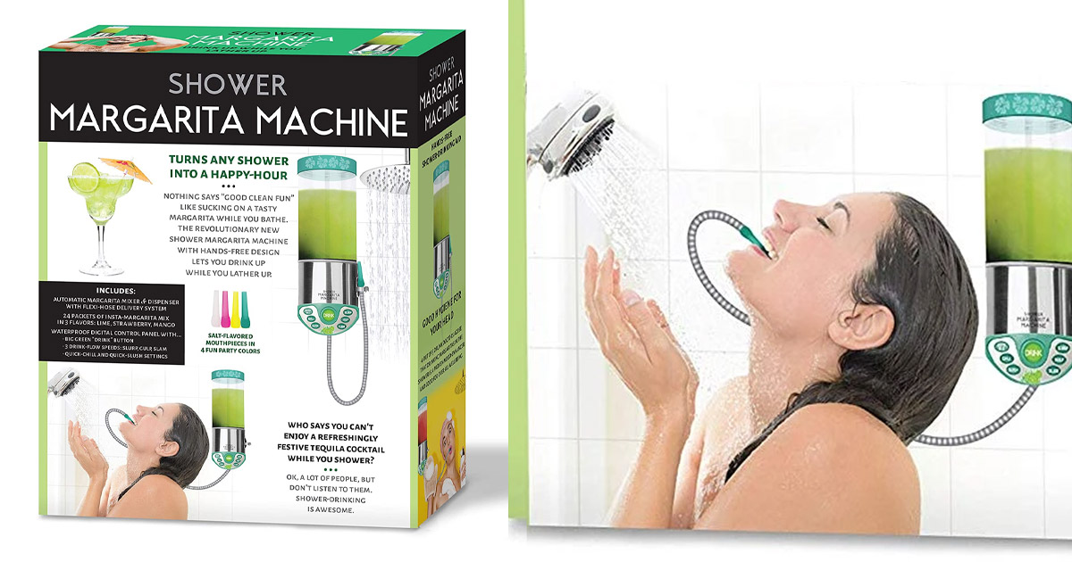 This Shower Margarita Machine Gets You Boozed Up In The Shower Hands-Free