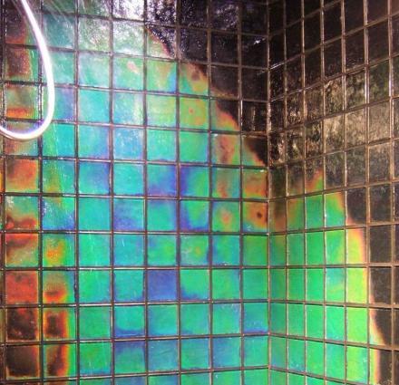 Shower Tile Changes Color Depending