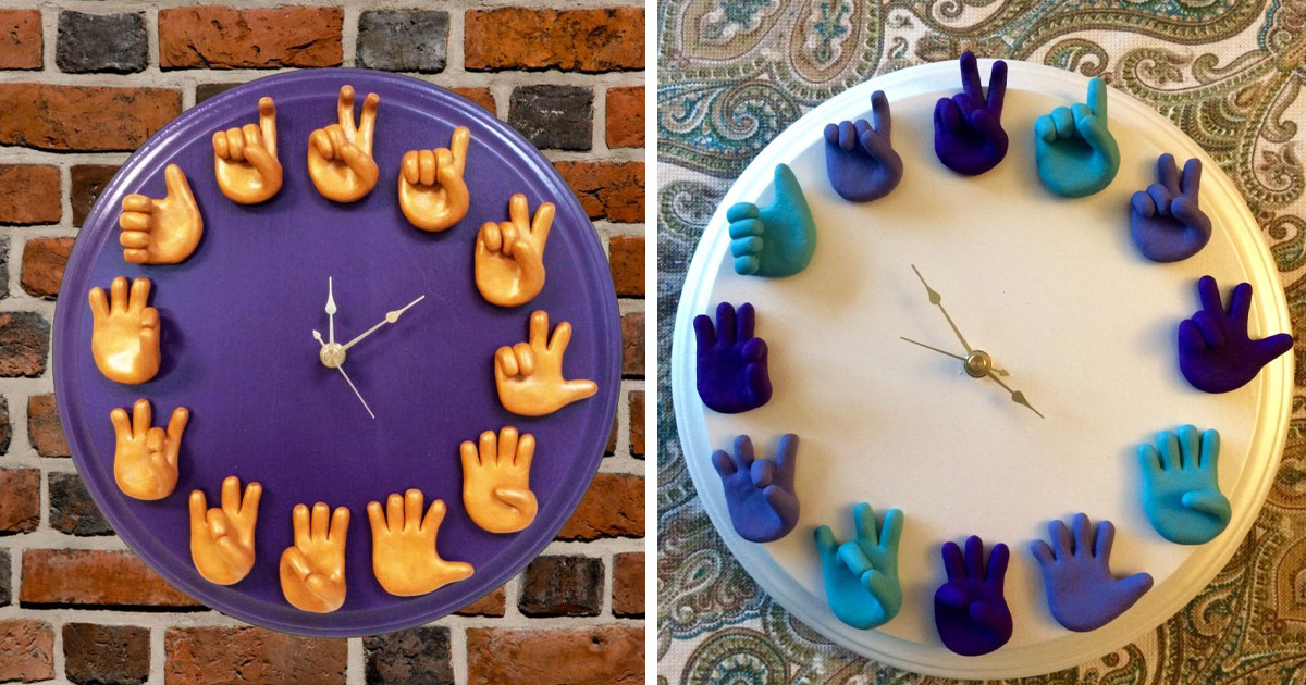 This Sign Language Wall Clock Uses ASL To Tell The Time