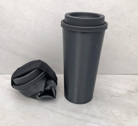 This Silicone Travel Mug Collapses Down To Easily Fit Into Your Bag, Purse, or Pocket