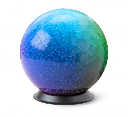This Sphere Shaped Gradient Puzzle Contains 540 Different Colors