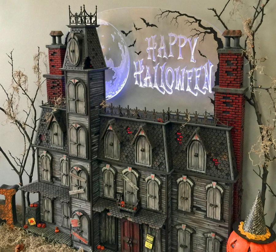Christmas Advent House.This Spooky Halloween Advent Calendar House Helps Countdown