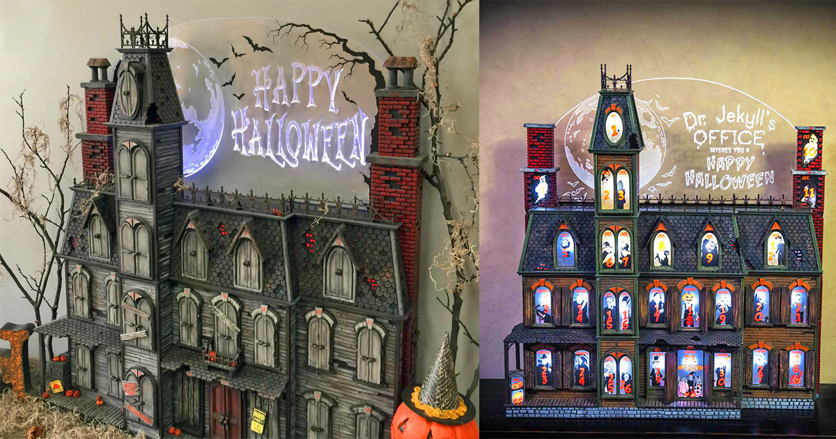 This Spooky Halloween Advent Calendar House Helps Countdown To October 31