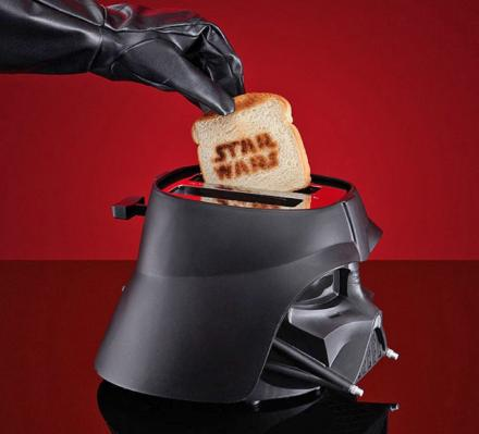 This Star Wars Darth Vader Toaster Toasts The Star Wars Logo Onto Your Bread