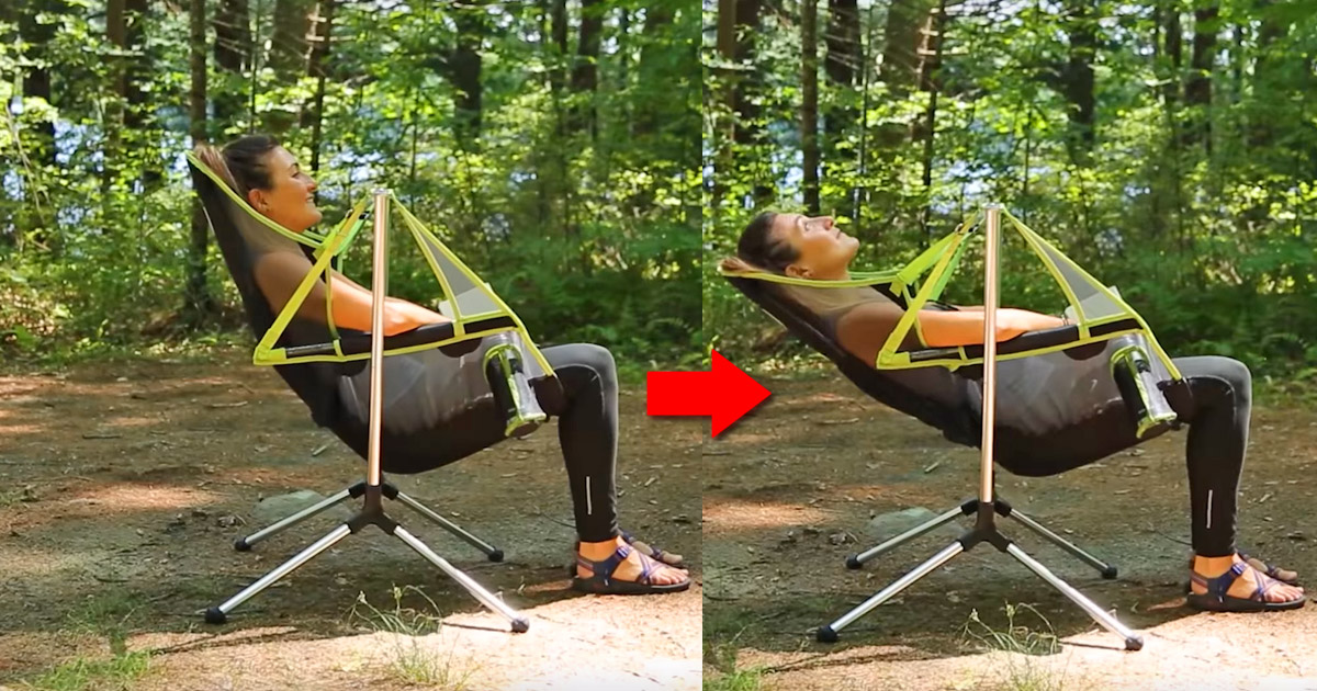 This Stargaze Recliner Is a Swinging Camping Chair That Also Reclines