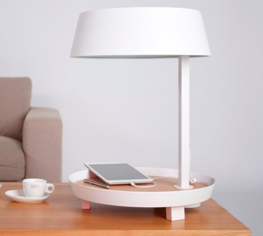 This Table Lamp Has An Integrated Usb Cord To Charge Your