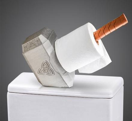 This Thor's Hammer Toilet Paper Holder Belongs On Every Marvel Geeks Toilet