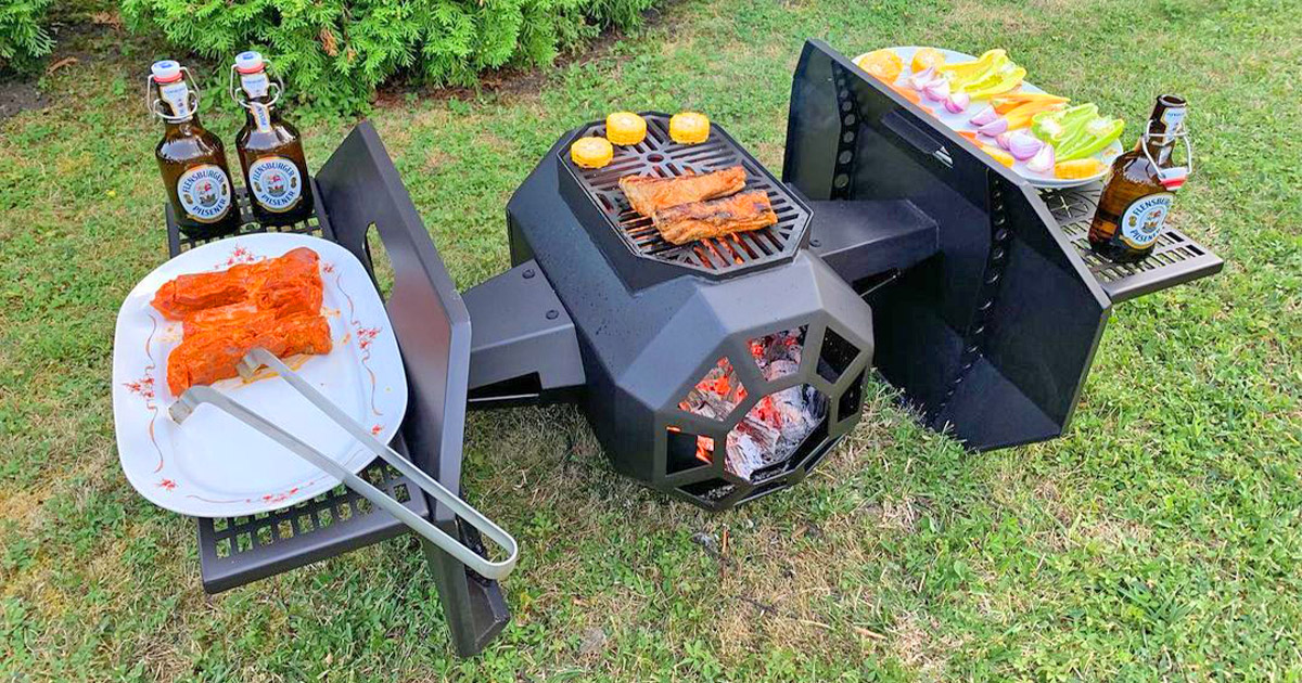 This Tie Fighter BBQ Grill Belongs In Every Stars Wars Lovers Backyard
